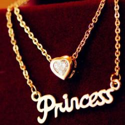 Colier Love Princess - Auriu